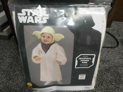 Yoda Girl Costume (Star Wars Yoda Toddler Child Kids Halloween Costume - Rubies 510147)