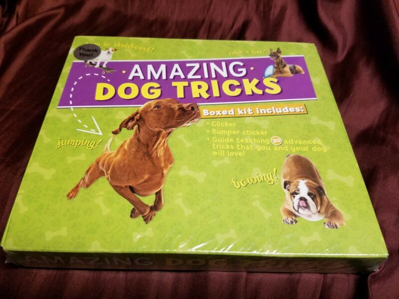 Amazing Dog Tricks Boxed Kit Training Information Guide NEW! ships fast!