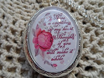 LOCKET MEMORIAL (DEATH OF A LOVED ONE) THERE IS A EMPTINESS IN MY
