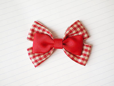 BACK TO SCHOOL Girl Children Hair Accessories Six Wings Ribbon Bow Clip Bobble