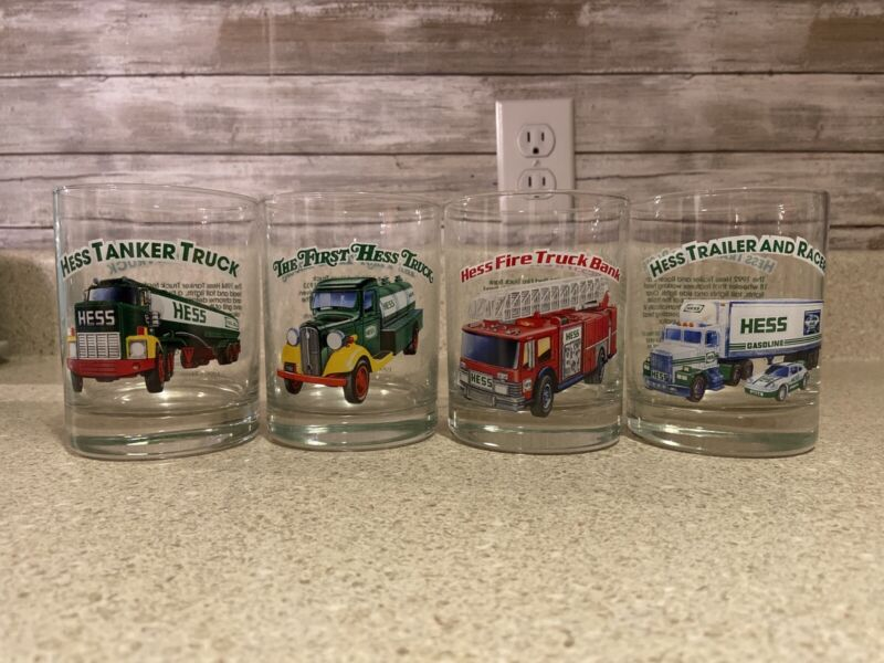 Hess Toy Truck Collector Series Glasses Set of 4 Drinking Glasses