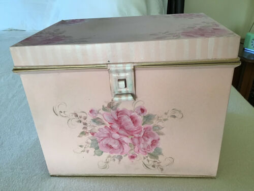 """OOAK Hand Painted File Box 15""""x11""""x12"""""""