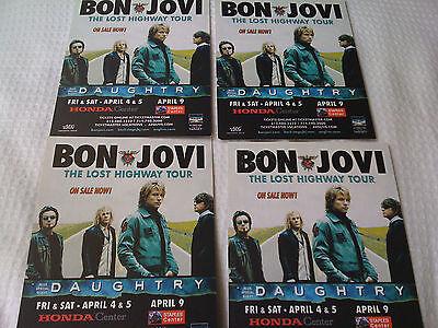 BON JOVI / US LTD PROMO CARD 4PCS