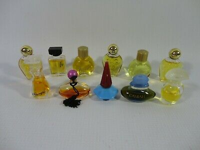 Bundle of Perfume Miniatures Bottles - Fragrance Vintage Giorgio Fidji Casbah