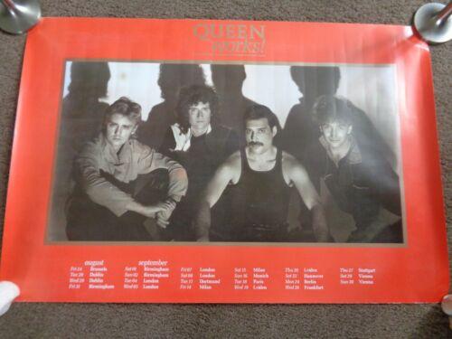 QUEEN THE WORKS ORIGINAL 1984 EUROPEAN TOUR POSTER