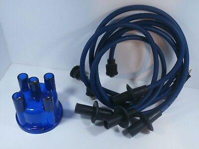 Blue Plug Wires - VW Spark Plug Wires & Distributor Cap Set BLUE 1200-1600cc. Ignition Wires
