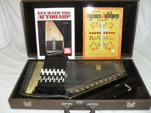Oscar Schmidt  Autoharp Vintage with Case 12 button