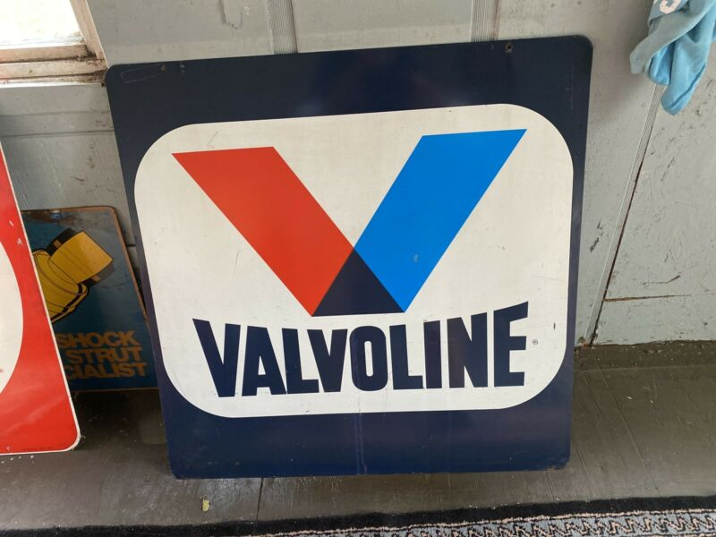 valvoline advertising Sign Vintage