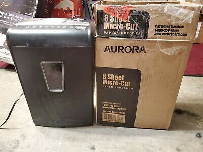 Aurora Au870ma High-security 8-sheet Micro-cut Paper Credit Card Shredder