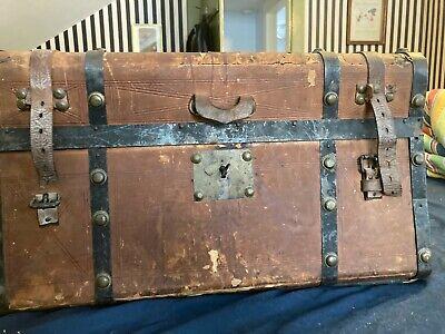 Details about  /Antique Wooden Carpenter/'s Tool Box All  Original Large Chest
