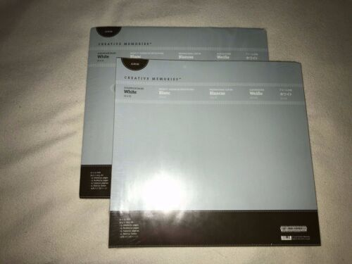 Creative Memories LOT 12x12 White Page Refills 2 Packs NEW