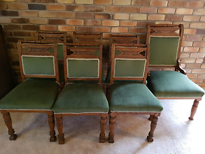 Antique dining chairs set of six +1 carver chair Centenary Heights Toowoomba City Preview