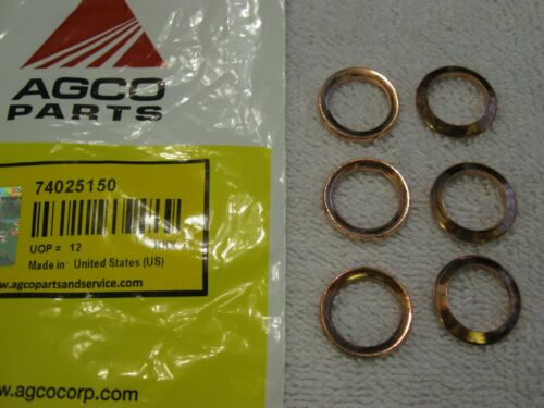 OEM Allis Chalmers 74025150 Fuel Injector Copper Sealing Washer 2800 3500 3750