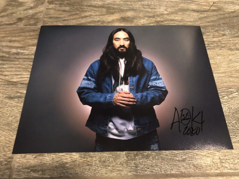 STEVE AOKI SIGNED 11X14 PHOTO COA DJ LEGEND RARE! AUTOGRAPHED PROOF!! RAPPER
