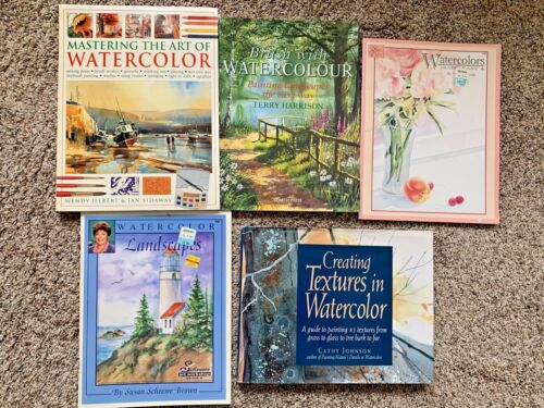 Mixed Lot of 5 Art Watercolor Books Mastering the Art of Watercolor Step-by-Step