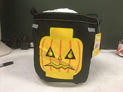 LEGO Halloween Jack O Lantern Black Bucket Bag w/ Reflective Patches NEW