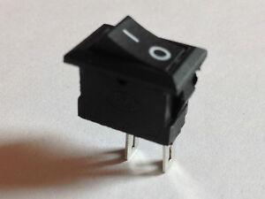 5x Wippschalter, klein | 250V AC, 3A | 5 Stück