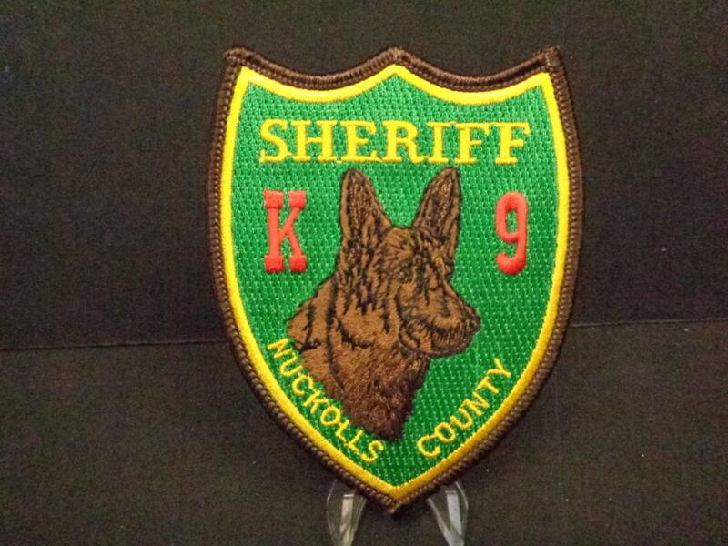 NUCKOLLS COUNTY (NE) SHERIFF K-9 PATCH, CANINE COPS, SCARCE, PRE-1990.
