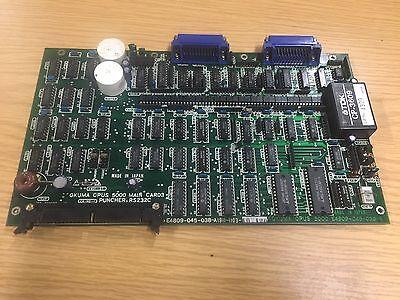 Okuma Opus 5000 MAIN CARD 3 Puncher, RS232C, E4809-045-038-A, Used, Warranty