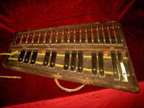 Vintage J.C. Deagan 1908 Glockenspiel Xylophone Orchestra Bells w/Ludwig Mallets