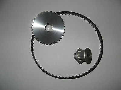 "Mini Metal Lathe 7 x 10, 12, & 14"" Pulley/Belt Power Upgrade Kit 3:1 Reduction/"