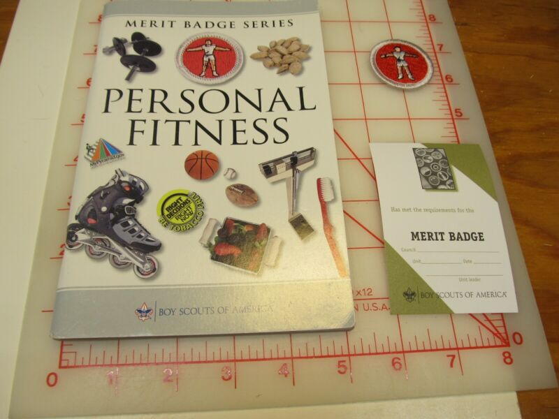 Personal Fitness Merit badge book with merit badge and blank card (bD)