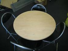 Round table with 4x foldup chairs Mascot Rockdale Area Preview