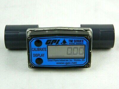 Gpi Tm075-n Flowmeter 34 Nptf Pvc Water Meter With Local Display