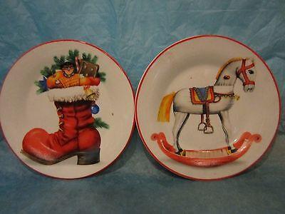Greenbrier International Decorative Christmas Plates Rocking Horse and Boot  ](International Christmas Decorations)