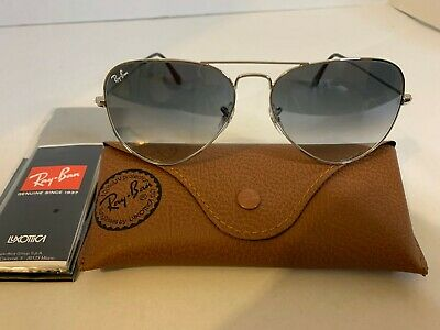 Ray-Ban Aviator Sunglasses RB3026 62mm 003/32 Silver Frame w/ Grey Gradient (Ray Ban Aviator Sunglasses 62mm)