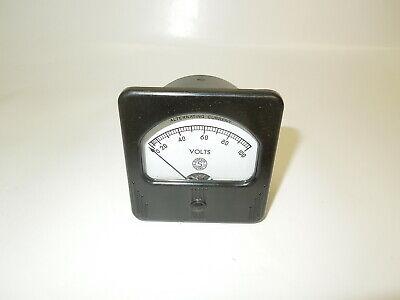 Vintage Simpson Bakelite Alternating Current Ac Voltmeter Meter Tester Testing