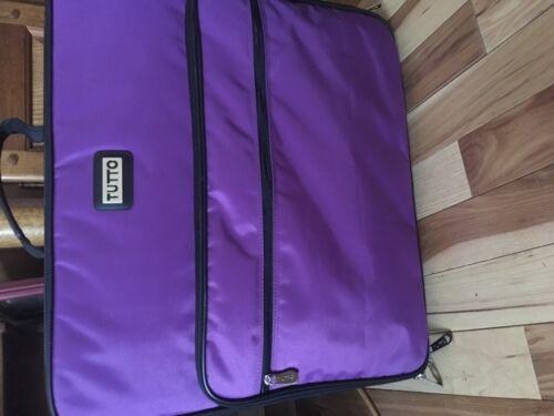 "Tutto 19"" Purple Embroidery Project Bag"