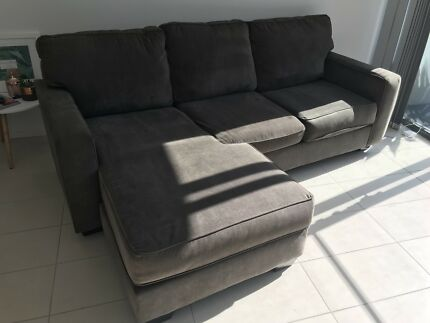 *SALE PENDING* Micro Suede Charcoal Grey Couch