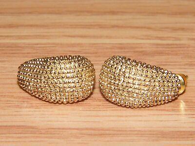 Ellen Kiam Goldfarben Sammlerstück Modeschmuck Ohrstecker Rücken Ohrringe Lesen (Elle Schmuck Ohrringe)