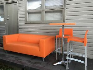 Modern Orange 2 Seater Lounge St Marys Penrith Area Preview