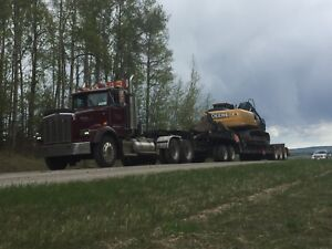Excavator/truck jeep and lowboy for hire