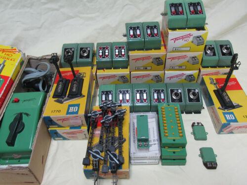 Vintage Fleischmann Train Controls, Switches, Electrics, Transformer, Signals