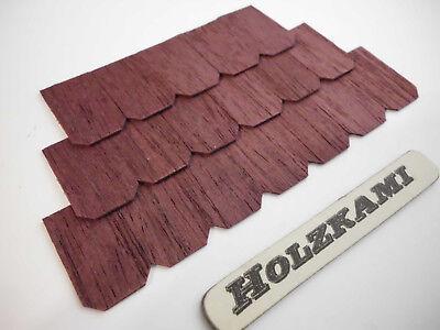 Dachschindeln  Holzschindeln Dunkelbraun. 100 Stück.  75mm x 50mm x 1mm  L/B/H