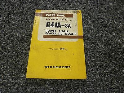 Komatsu D41a-3a Power Angle Power Tilt Dozer Parts Catalog Manual Sn 6001-up