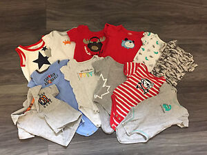 0-3 month baby boy clothes 20 items