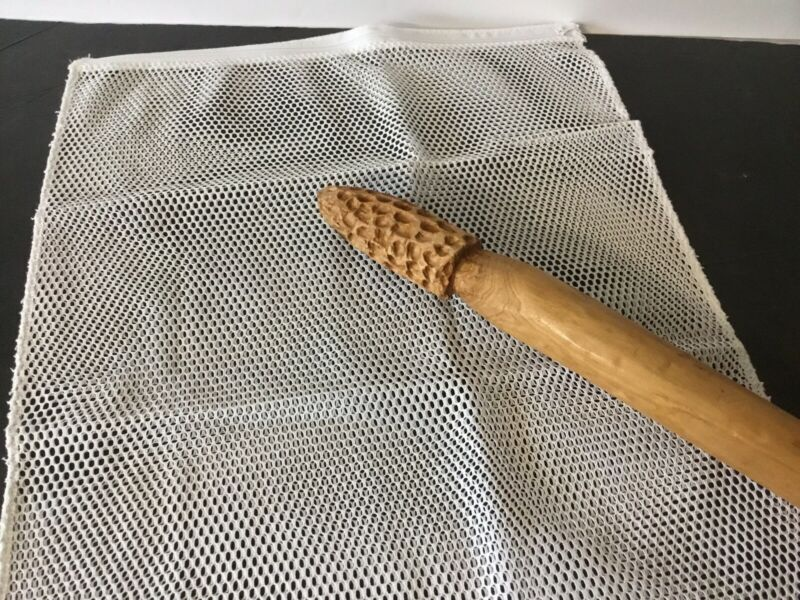 "Mesh Bag Morel Mushroom Hunting Gathering WHITE 17""x15"" Bag"