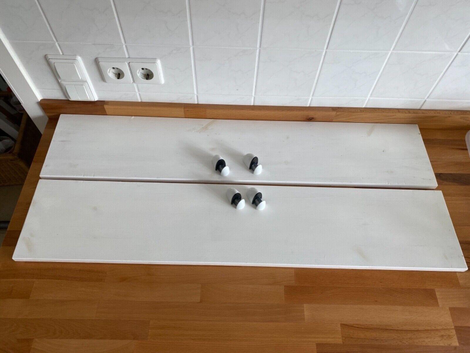 2x Ikea Regal Ablage, Regalbrett weiß 100x20 cm Echtholz Bad Küche, Wohnzimmer