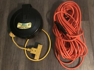 30 ft Extension cord reel and a 100 ft extension cord.