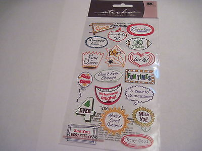 Prom Sayings (Scrapbooking Crafts Stickers Stickos School Sayings Year Book Prom Clown)