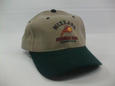 Wizzard Overhead Doors Hat Green Gray Strapback Baseball Cap