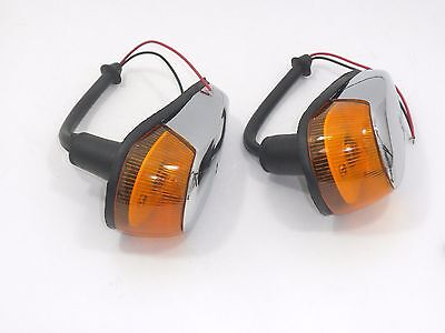 VW BUG Turn Signal Light 2pcs Assembly Amber Lens VOLKSWAGEN BEETLE 1964-1974
