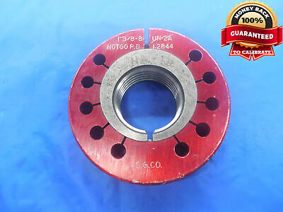 1 38 8 Un 2a Thread Ring Gage 1.375 No Go Only P.d. 1.2844 N-2a 1 38-8 Tool