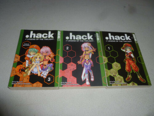DOT HACK LEGEND OF THE TWILIGHT BOOK LOT 1 2 3 SET COMPLETE ANIME MANGA TOKYOPOP