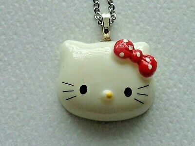 HELLO KITTY RED POLKA DOT BOW STAINLESS STEEL CHAIN NECKLACE (Hello Kitty Polka Dot)
