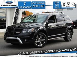 2018 Dodge Journey Crossroad **CUIR*TOIT*NAV*AWD*DVD**